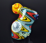 Zig Zag Colored Glass Bubblers