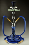 Blue Multicolor Base Hookah Pipes