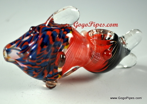 Glass animal pipes for Glass fish pipe