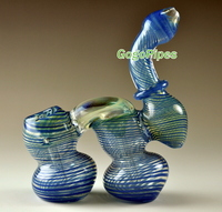 Double glass bubblers