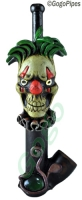 Wood Evil Clown Pipe