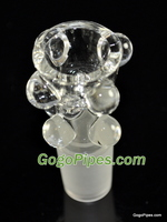 Glass on Glass Bowl Clear 18mm