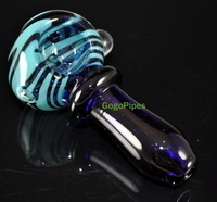 Blue Glass Hand Pipe