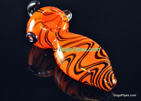 Zig Zag Colored Glass Pipe